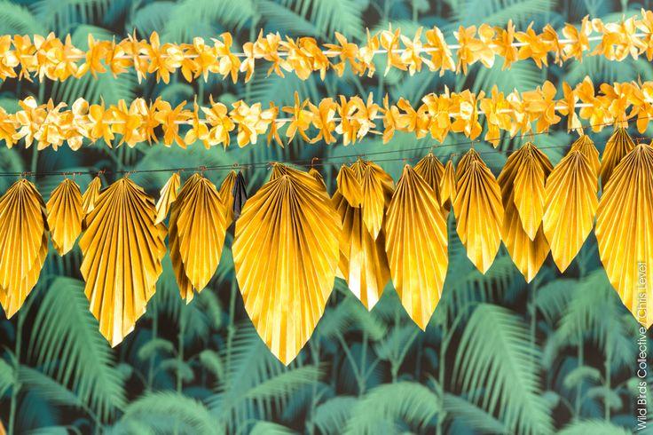 Guirlande tropicale - Création de Wildbirdscollective