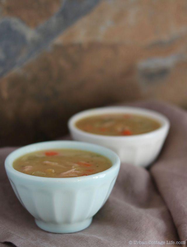 Yellow Split Pea Soup with Smoked Pork  |© Urban Cottage Life.com