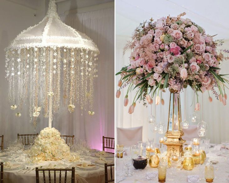 10 wedding centrepieces with the wow factor wow factor for Wedding reception centrepieces