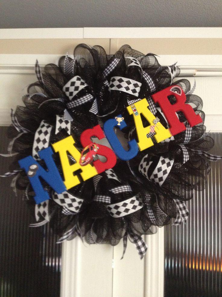 NASCAR wreath large 40$ created by Ronda Cromeens.