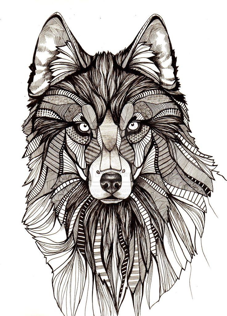 wolf illustration - Google Search