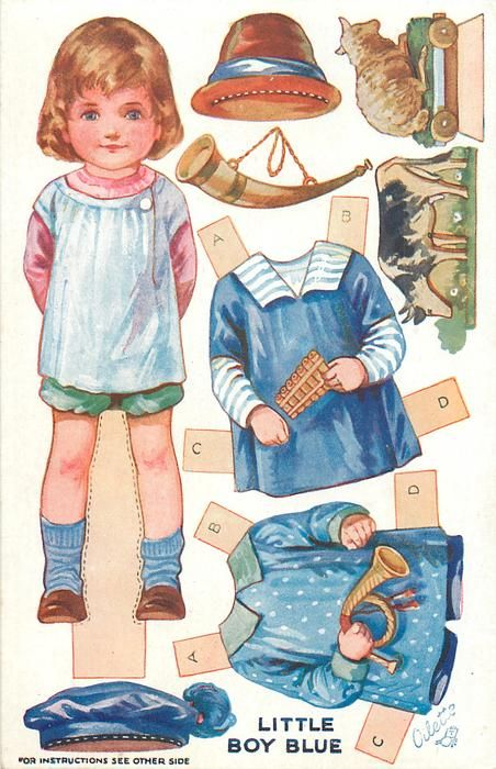 LITTLE BOY BLUE NURSERY  Nursery Rhymes Dressing Dolls, SERIES III: