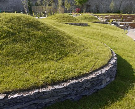 1000 images about mound berm on pinterest grasses for Mounding grass