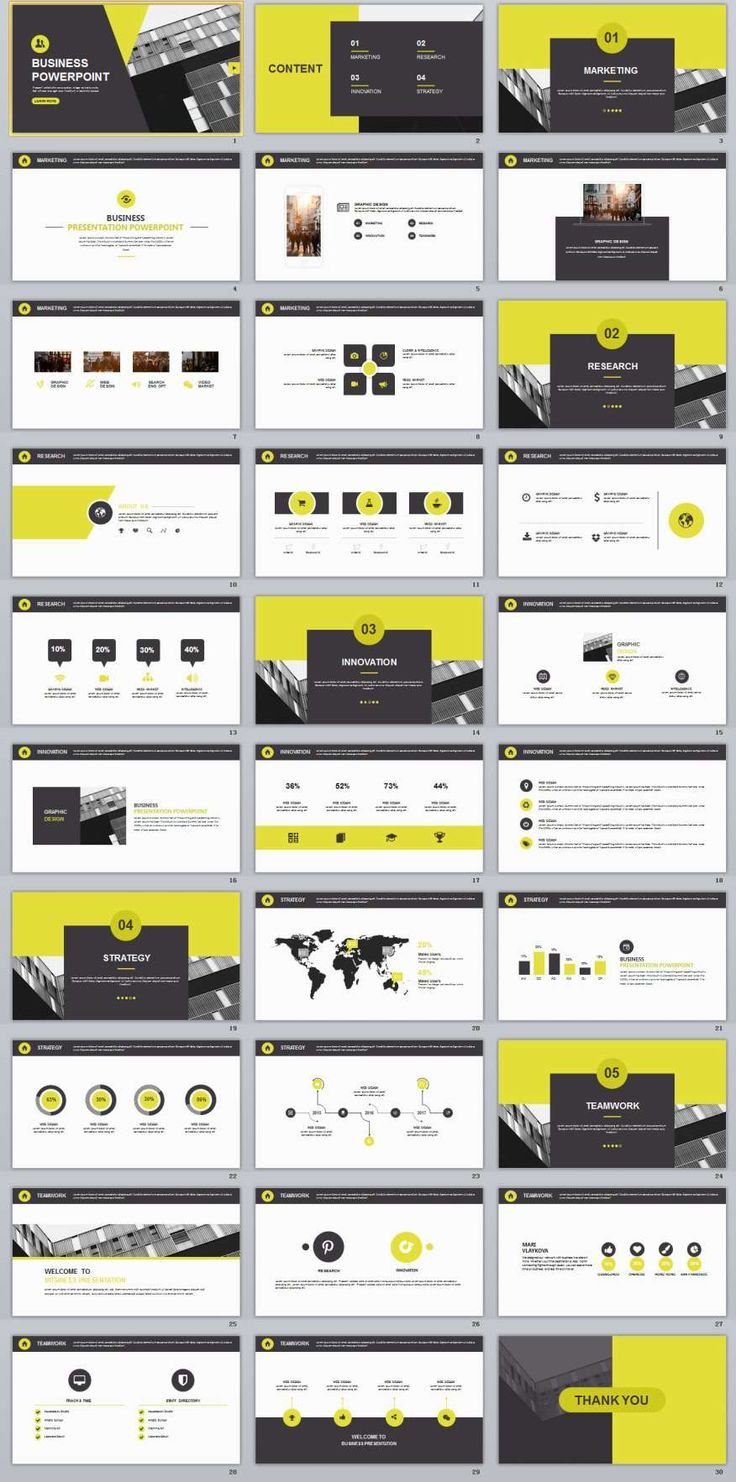 40 best 2018 best powerpoint templates images on pinterest keynote 30 yellow multipurpose powerpoint templates toneelgroepblik Gallery