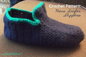 Polka Dots Love: Crochet Pattern: Mens Loafer Slippers