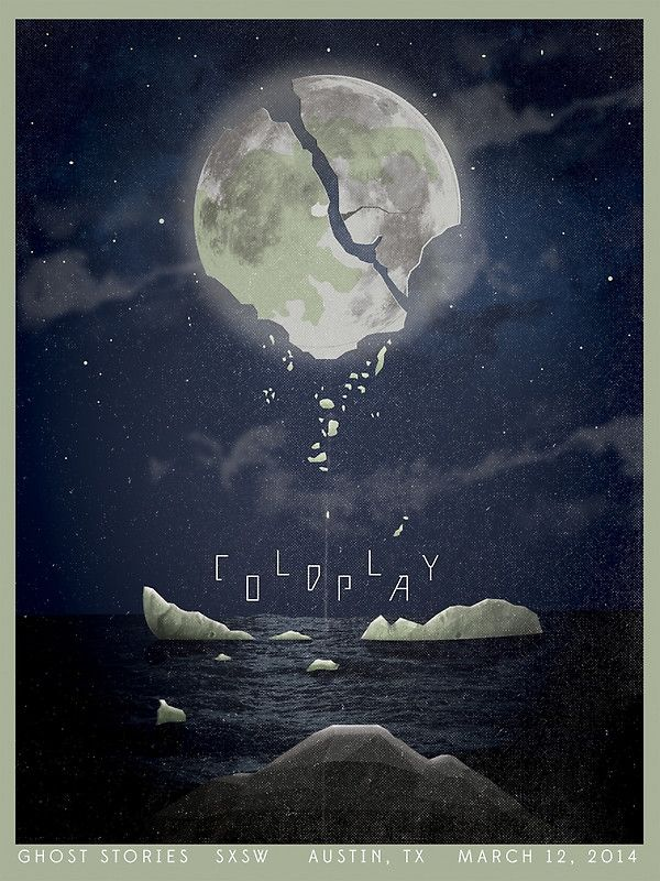 Coldplay Poster Cracked earth Warning about Planet X Pole Change Earthquakes