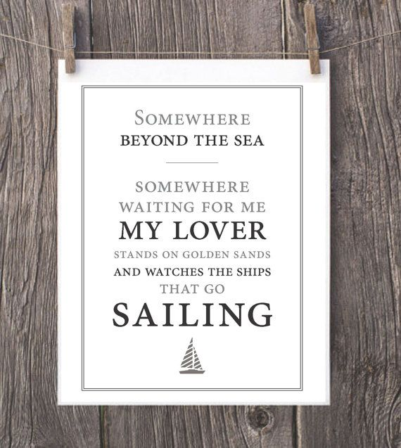Somewhere Beyond The Sea // Art Print by MCompetielloDesigns, $12.00
