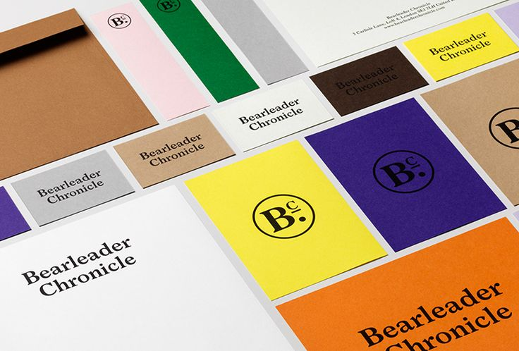 Picture of stationery designed by The Studio for the project Bearleader. Published on the Visual Journal in date 21 October 2015