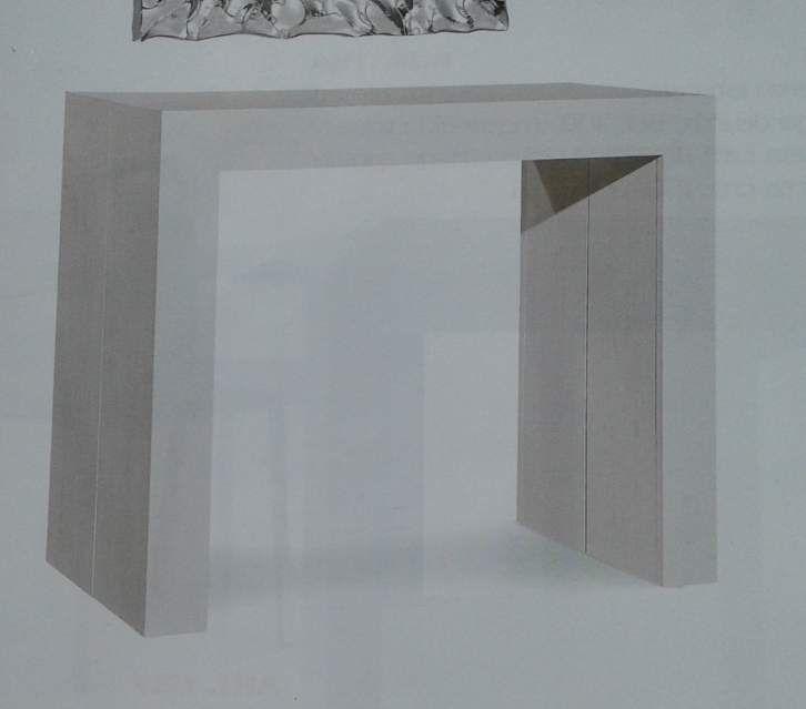 Consolle nuova Design bianca effetto consumato allungabile 295 2