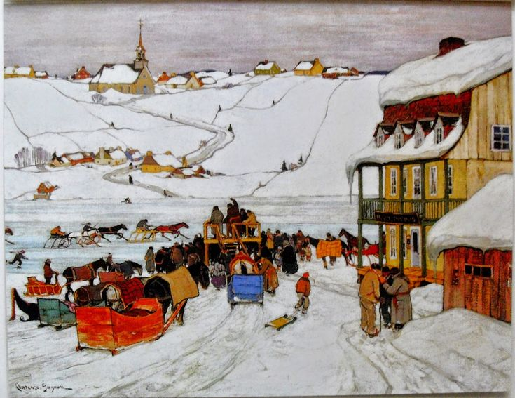 Canadian painter Clarence Gagnon 1881-1942 is best known for his rural Quebec landscape paintings and the illustrations for Louise Hémon's novel Maria Chapdelaine. Gagnon was also an award winning printmaker, a passionate outdoorsman, and an active promoter of Quebec handicrafts. Clarence Gagnon was born in a small village in rural Quebec. Although he trained and maintained a studio in Paris for much of his career, he never lost his love of the Laurentians and the Charlevoix region of…