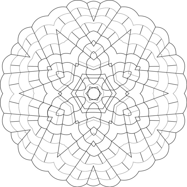 168 best Printable Mandalas to Color Free images on Pinterest