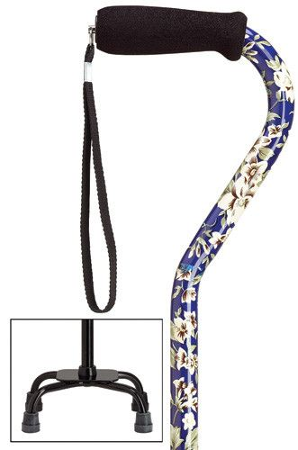Harvy Fashion Quad-Cane Small - Adjustable Small Base Quad Cane