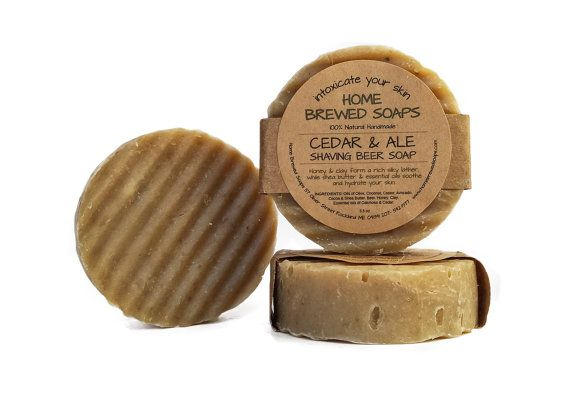 Beer Soap Best Shaving Soap for Men Shaving by HomeBrewedSoaps