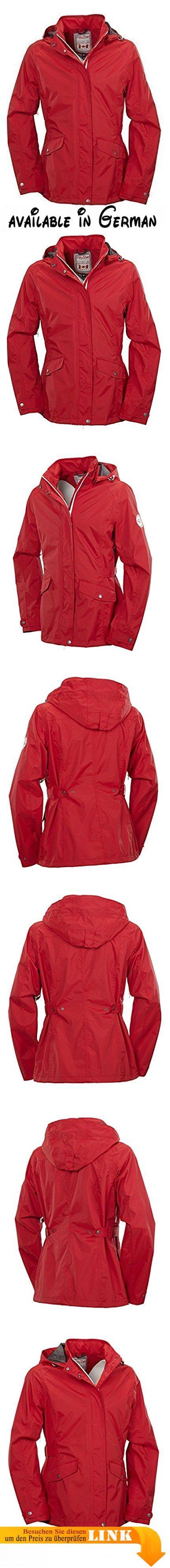 Fifty Five Damen-Freizeit-Regen-Jacke - Killala red 40 - Outdoor-Funktions-Jacken mit FIVE-TEX Membrane / winddicht wasserdicht atmungsaktiv. Vielseitige DAMENJACKE, fast zu schade für Outdoorbekleidung. Mit unserer FIVE-TEX Membrane wird die Jacke winddicht, wasserdicht 10000mm, und atmungsaktiv 6000g/m². Also nicht nur schön, sondern auch funktionell. Die Jacke ist ein absolutes Allroundtalent. Von Regenjacke, Freizeitjacke, Wanderjacke oder als Windbreaker einfach super
