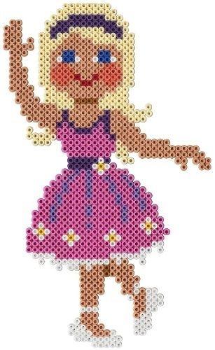 Blonde ballerina -- perler beads