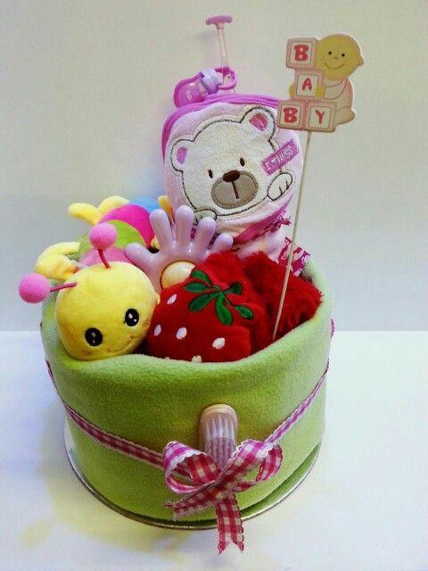 Cute Diaper cake for baby girl