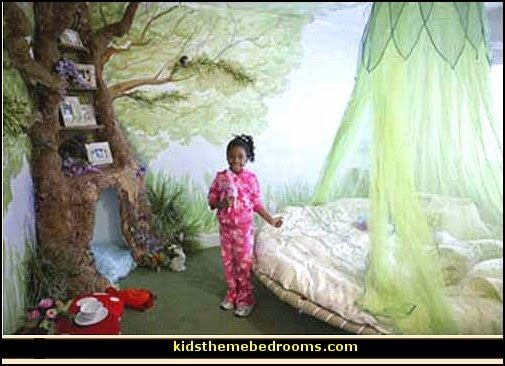 woodland fairy theme bedroom decorating-fairy forest themed bedroom ideas