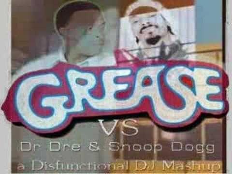John Travolta & Olivia Newton John vs. Dr Dre & Snoop Dog - The New Episode Mashup. Lame video, but so much fun. Wiggle-worthy.