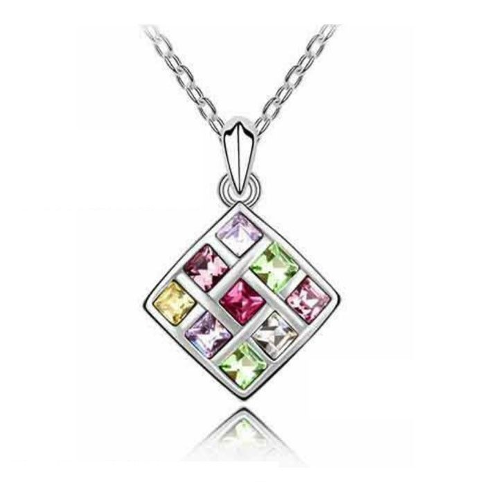 Temukan dan dapatkan Kalung Swarovski Crystal Elements Coorful Square hanya Rp 200.000 di Shopee sekarang juga!…