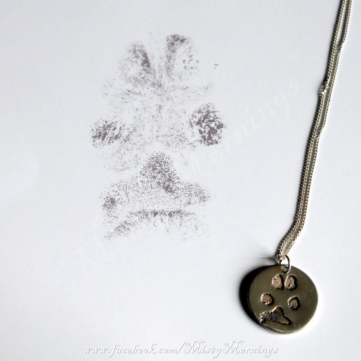 Solid silver pawprint necklace www.facebook.com/MistyMornings
