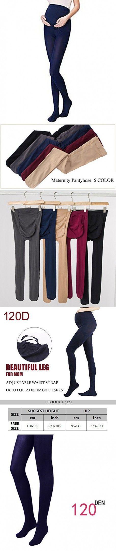 Bllatta Women's Adjustable Maternity Pantyhose Opaque Tights 120 Denier 6 Color