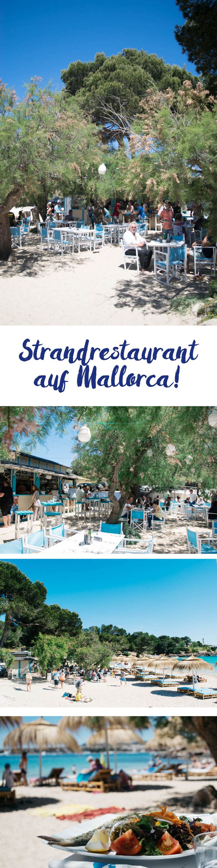Leckeres Strandrestaurant auf Mallorca in Porto Colom