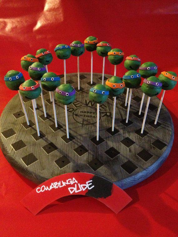 Teenage Mutant Ninja Turtle Cake Pop Stand by BlessedMamaCreations, $32.00