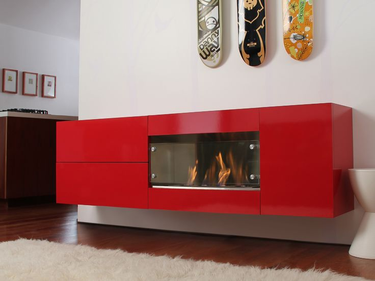 Stand Alone Kitchen Designs : Contemporary stand alone gas fireplaces