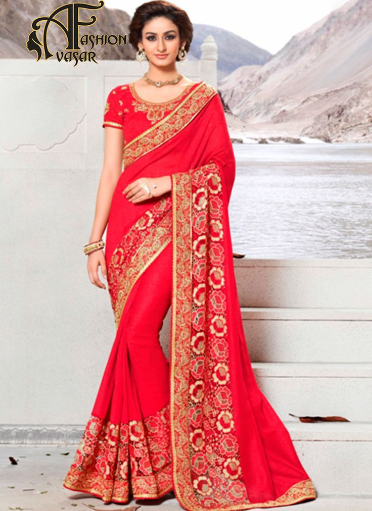Women's Classic Looking Bhagalpuri Silk Red Saree.This Deep Scarlet Bhagalpuri Silk Saree is adding the attractive glamorous showing the sense of cute and graceful. The ethnic Beads & Resham work at the clothing adds a sign of attractiveness statement with your look.