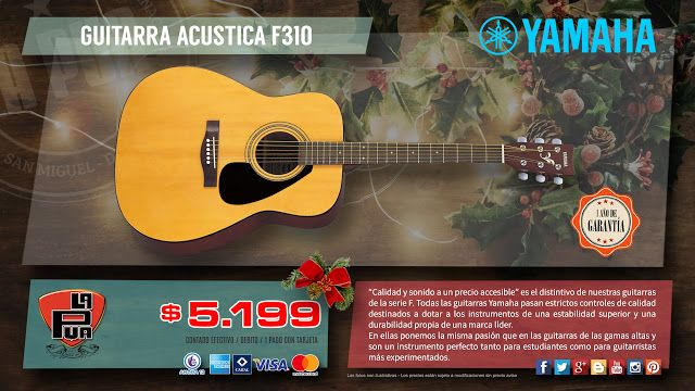 "La Púa San Miguel: GUITARRA ACÚSTICA ""YAMAHA"" F310 - Tapa de Abeto"