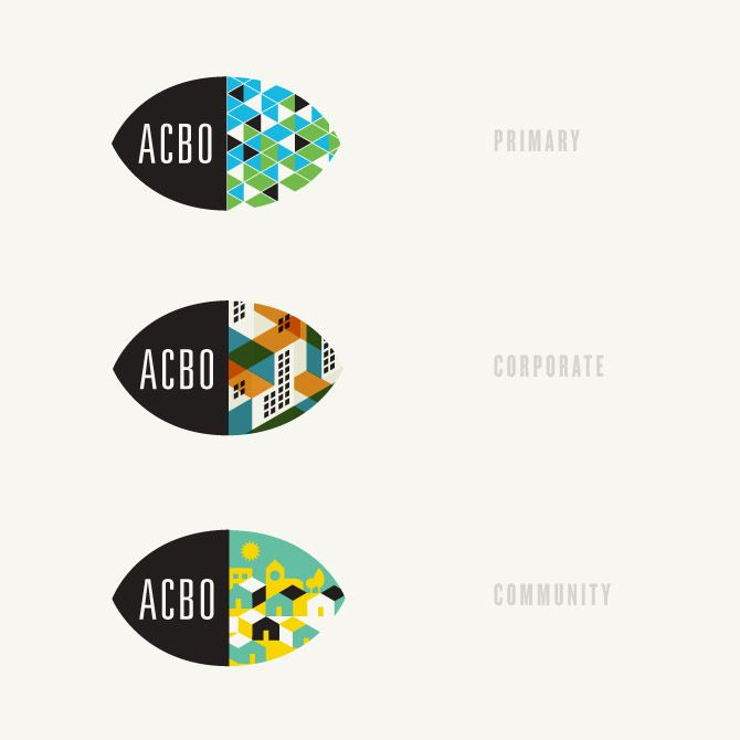 "Jeremy Loyd. ""The new ACBO identity system is designed to be versatile, and communicate ACBO's bright outlook for their visually-impaired clients"""