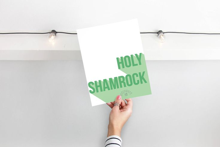 Curse Word Holy Shit Art Print Gift | Profanity Quotes Holy Shamrock Wall Art Decor | Luck of the Irish St Patrick's Day Decorations by IntrovertInkStudio on Etsy