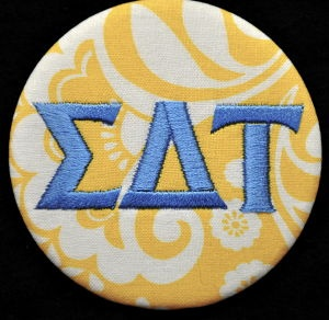 Traditional Sigma Delta Tau button! www.tailgatecreations.comSigdelt