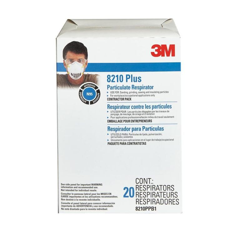 3M 20-Pack Disposable Sanding and Fiberglass Safety Masks