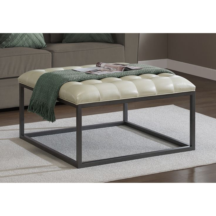 17 Best Ideas About Tufted Leather Ottoman On Pinterest