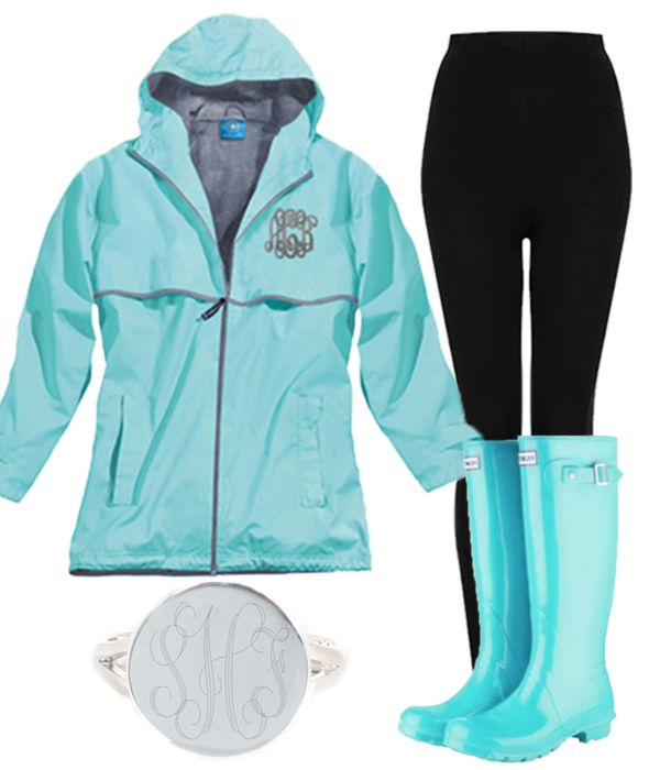 Today's Weather Report: Cloudy with a chance of MONOGRAMS! Monogrammed Rain Jackets brighten any cloudy day!