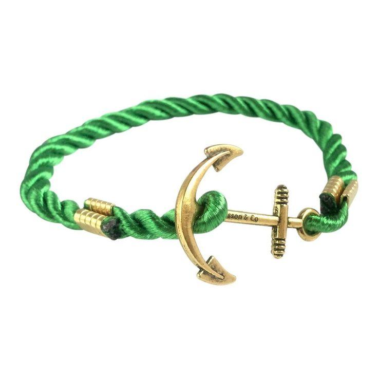 Anchor Bracelet   Green