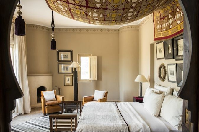 Moroccan inspired bedroom.
