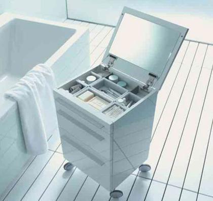 Rolling Bathroom Storage by Duravit