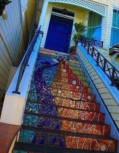 Потрясающие расписные лестницы - Дизайн интерьеров | Идеи вашего дома | Lodgers