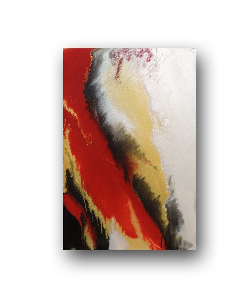 Red gold painting, Heather Day. https://www.etsy.com/listing/219021741/red-metallic-gold-painting-on-canvas
