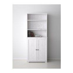 BORGSJÖ Open kast m deuren - wit - IKEA