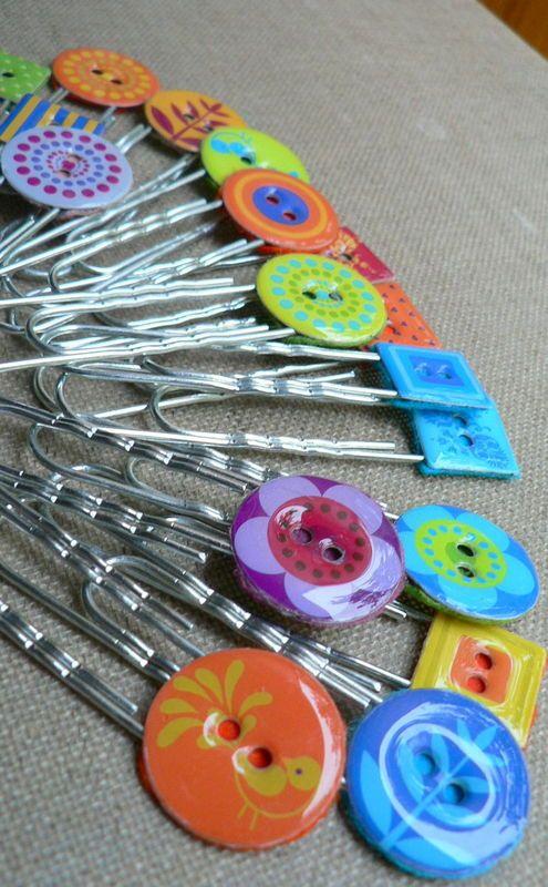 trombones marque pages customisés de boutons artemio