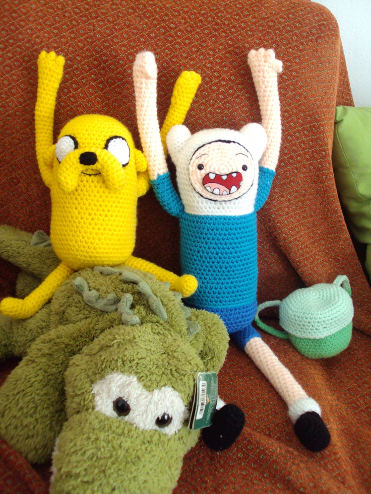 Finn and Jake Amigurumi. Yay!!