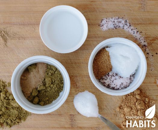 Changing Habits Face Mask and Body Scrub.  All-new Changing Habits Face Mask and Body Scrub – these fabulous ingredients can not only be used to make healthy and nutritious food – they are also wonderful for your skin!