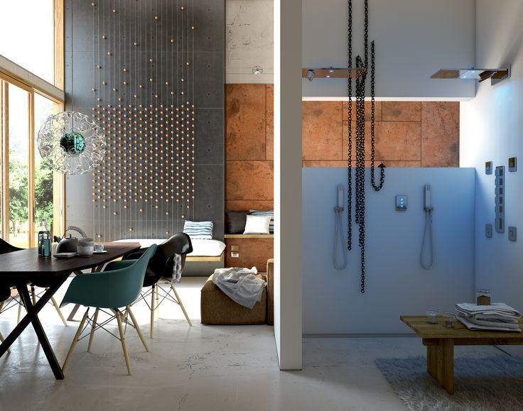YES L'ambiente bagno si inserisce perfettamente in un contesto di design moderno. The bathroom fits perfectly with a modern design.