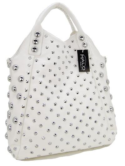 White Studded purse