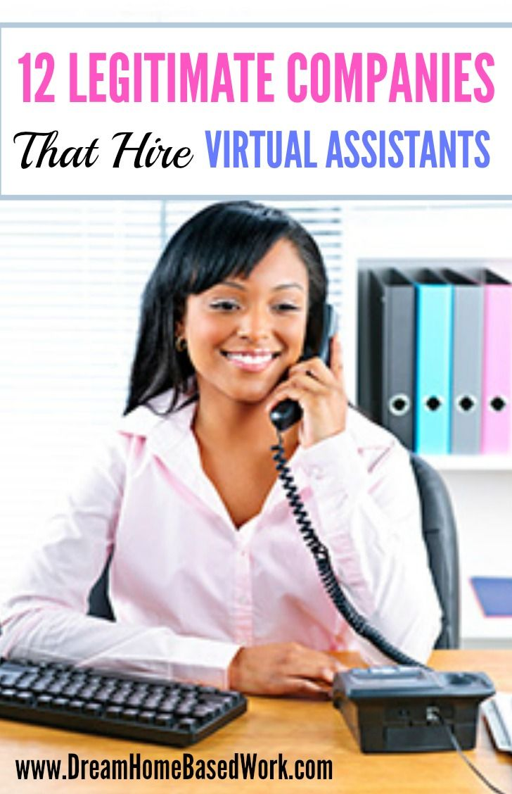 Virtual Assistants are one of the most popular work at home options. If you have great clerical skills, here are 12 companies you can check out.