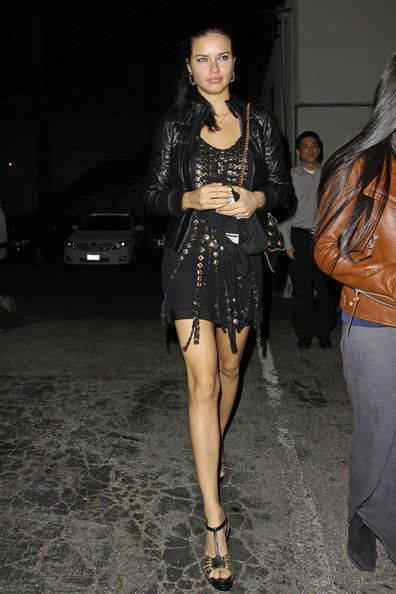 black studded cocktail dress with t-strap pumps and quilted leather jacket #MillionDollarShoppersDanielle