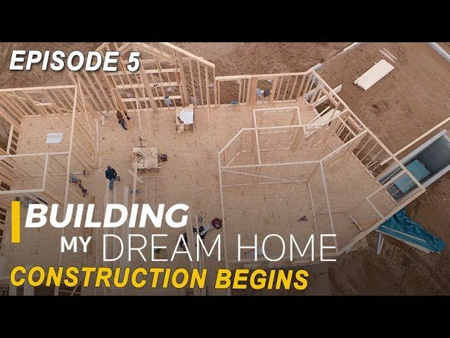 Building My Dream Home Construction Begins Home Construction My Dream Home Basement Bar Plans